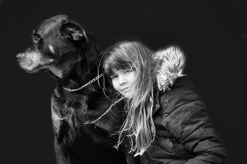 Flickan o hunden!