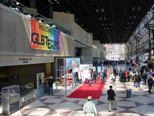 The Original GLBT Expo First Annual Video Lounge Poster in Lobby Entrance 2008