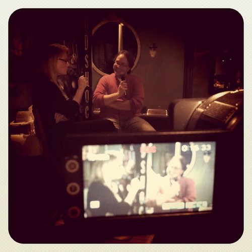 Shooting Daphne Ashbrook and Ken Deep. #DoctorWho #Podshock