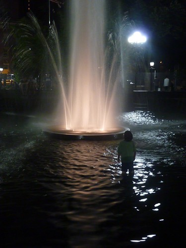 Little Boy & The Fountain