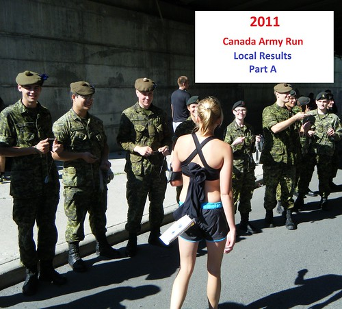 Canada Army Run 2011: local results, photos  (Part A)