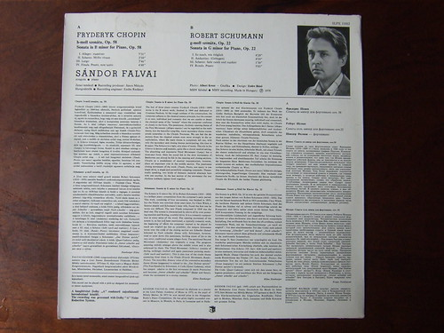 Backside Chopin - Piano Sonata B-minor op.58 & Schumann - Piano Sonata G-minor op.22 - Sandor Falvai Piano, Hungaroton