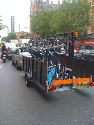 Unbusted rental bikes being delivered
