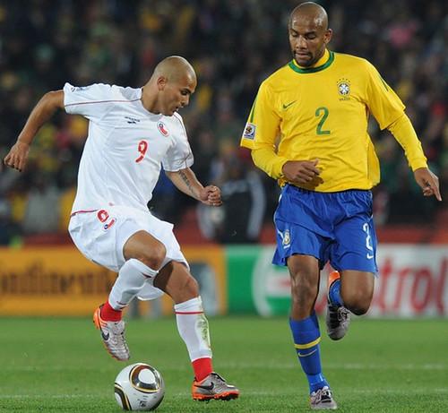 Anh tran Brazil 30 Chile Man Samba me dam- Ben le- Worldcup 2010- Tin Photo