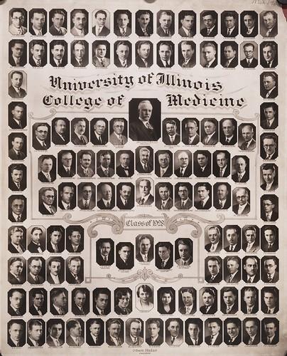 1928 graduating class, University of Illinois College of Medicine