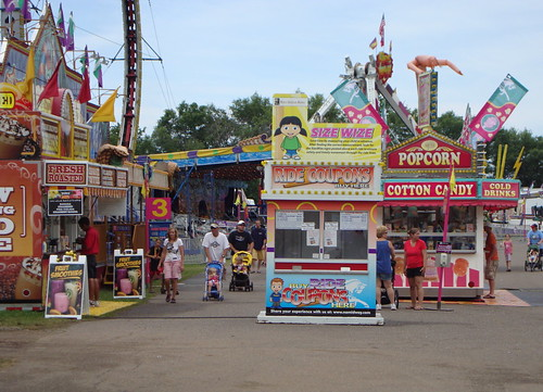 Ride Coupons At The Entrance To The NAME Midway.