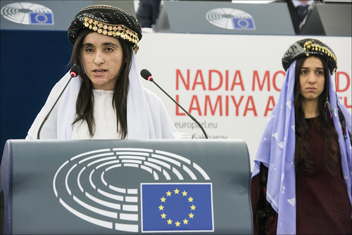 Iraqi Yazidi activists Nadia Murad and Lamiya Aji Bashar receive 2016 Sakharov Prize