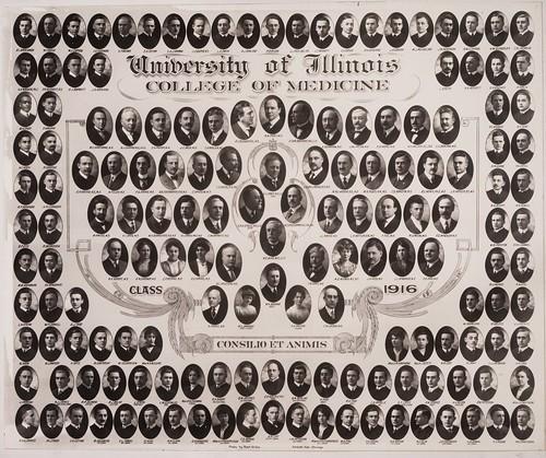 1916 graduating class, University of Illinois College of Medicine