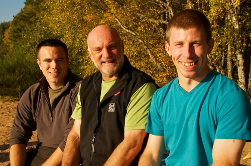 The 2 selected candidats Keith Ruffles and James MacKeddie together with Cameron McNeish