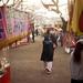 Ayaka discovers a small sakura festival, Japan