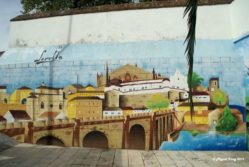 «Mural» Plaza de la Salud - Barrio: Los Mercaderes - Ciudad Monumental - Plasencia, La Perla del Valle (Cáceres - Extremadura) - España