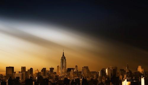New York dreamy skyline