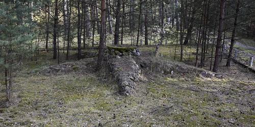 Steinstern, Sowjetarmee Finow, DDR /  Звезда, сделан из камней, ГСВГ Финов