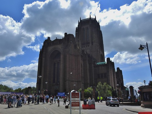 Liverpool Cathedral, Liverpool, UK - July 2017