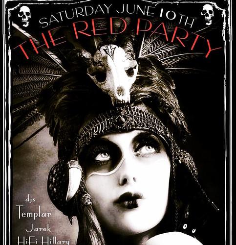 @redpartynyc is Saturday! #goth #postpunk #nyc #deathrock