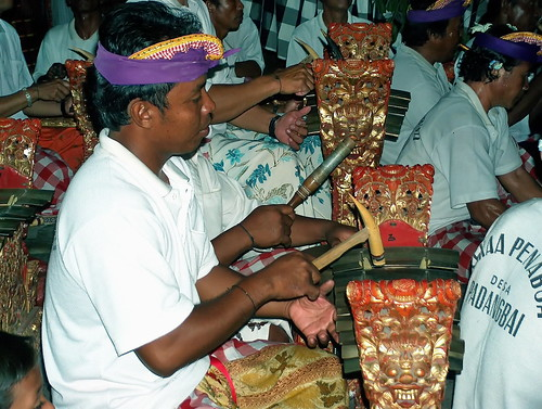 Indonesia - Bali - Padangbai - Gamelan Musicians - 319