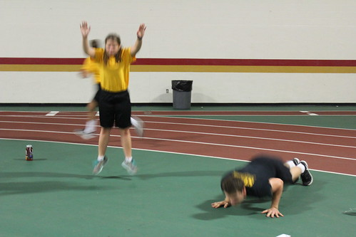 53 - CPL HUCKSOLL & SSG SMITH DOING MOTIVATIONAL BURPEES WITH C SQUAD