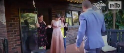 Trent Hodkinson @NRLKnights escorts terminally ill Hannah Rye to school formal; CLIP