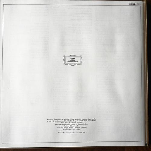 Booklet Inside Handel - Brockes -Passion - Maria Stader, Edda Moser, Paul Esswood, Ernst Haefliger, Theo Adam, Jakob Stampfli, Regensburger Domchor, Schola Cantorum Basiliensis, August Wenzinger, DGG 413 922-1, 1968 (198 418/420)