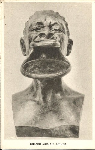 Ubangi Woman Sculpture- bronze- Field Museum of Natural History, Chicigo