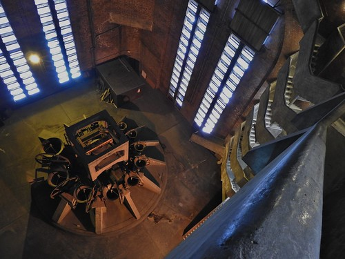The View of the Bells and Staircase to the Tower, Liverpool Cathedral, Liverpool, UK - July 2017