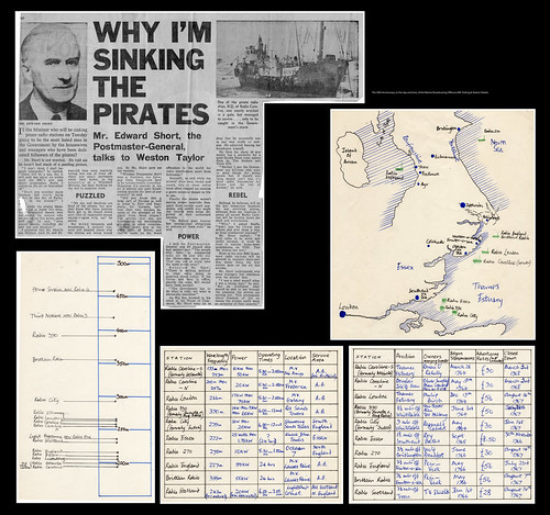 The 50th Anniversary, to the day and time, of the Marine Broadcasting Offences Bill: Sinking & Station Details