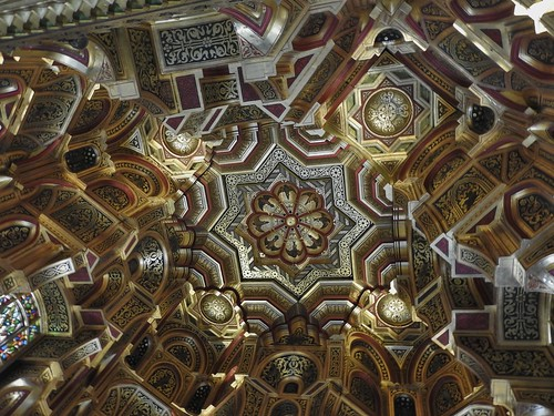 The Ceiling of the Arab Room at Cardiff Castle in Wales, UK - August 2017
