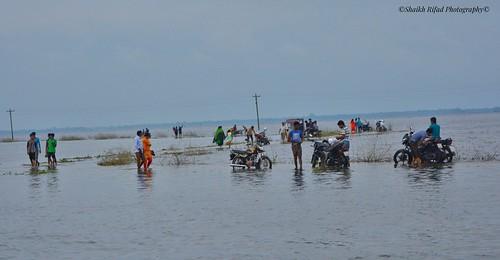 #Under #Water #Motorcycle #Bike #River #Evening #Bangladesh #Patul #Landscape  #Mode #Photo #Amazing #Peoples
