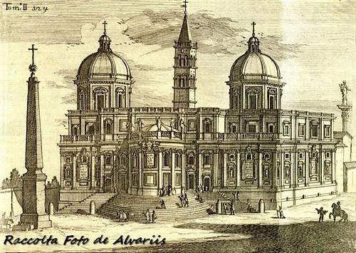 1745 2007 Facciata posteriore della Basilica di Santa Maria Maggiore a, d'anonimo