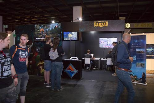 Kulisse des Spielestand von Panzar