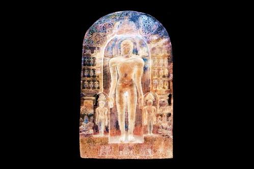 India - Karnataka - Badami Caves - Cave 4 - Jain Carvings - 144bbb