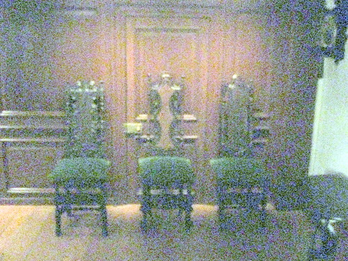 Side Chair and Cane Side Chairs in Wentworth Room, 1695-1700