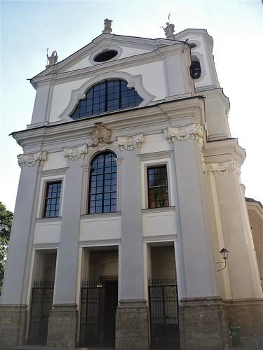 Salzburg, Salzburg - state (Austria) - Kirche Sankt Markus, la chiesa di Marco Evangelista, la iglesia de Marcos el Evangelista, l'église de Marc (Evangéliste), Church of Marc the Evangelist (Ursulinenplatz)