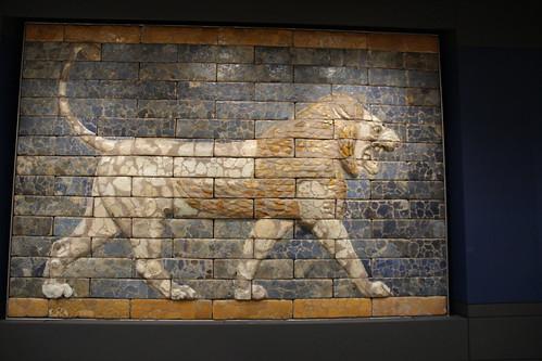 Lion from Nebuchadnezzar's Processional Way to Babylon's Ishtar Gate