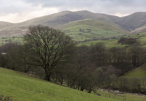 Lune Valley and the Howgill Fells between Tebay and Sedbergh, Yorkshire Dales National Park, Cumbria, UK