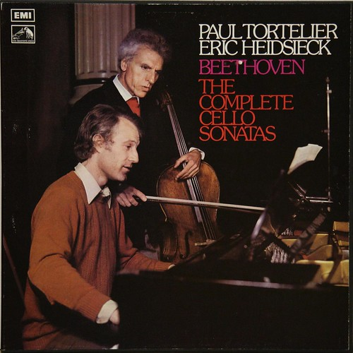 ASD 2853-4 Beethoven - The Complete Cello Sonatas - Paul Tortelier, Eric Heidsieck - EMI SLS 836