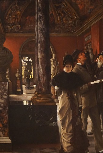 Foreign Visitors at the Louvre, 1883-1885, oil on canvas. James Tissot (French, 1836-1902).Gift of the Estate of Barbara Darlington Dupee. Santa Barbara Museum of Art, Santa Barbara, 2017
