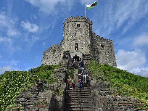 The Norman Keep at Cardiff Castle in Wales, UK - August 2017