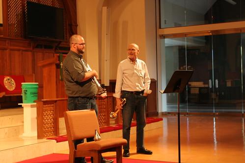 Allan Dean, trumpet master class, September 21, 2017, UMKC Conservatory