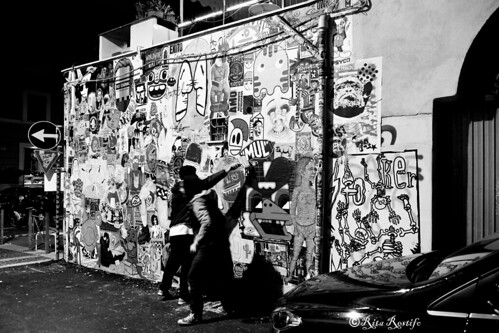 Roma. Pigneto. Poster-sticker art curated by Worldwide Wall: Merioone, K2m, Aloha Oe, Mr.Minimal, 5toker