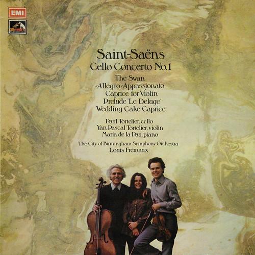 ASD 3058 Saint-Saens - Cello Concerto No.1, The Swan, Allegro, Caprice for Violin - Paul Tortelier, Yan Pascal Tortelier, Maria de la Pau - Louis Fremaux - City of Bermingham SO - EMI