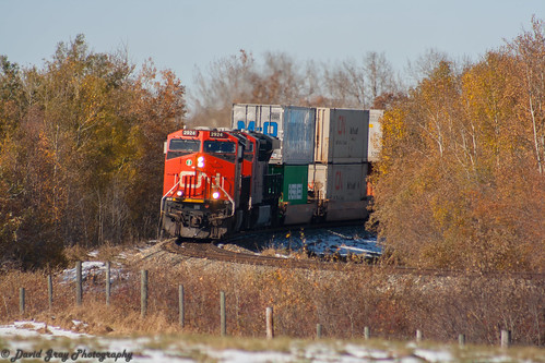 CN 115 rounding the Curve