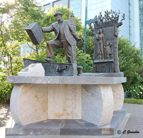 THE EMIGRANT  |  HALIFAX  HARBOR BOARDWALK | SCULPTURE BY ARMANDO BARBON |  HALIFAX  |  NOVA SCOTIA  |  CANADA