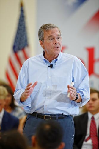 Governor of Florida Jeb Bush at TurboCam, Barrington, NH on August 7th by Michael Vadon