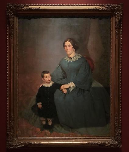 Retrato de Cecilia R. de Peralta Ramos y su hijo 1861