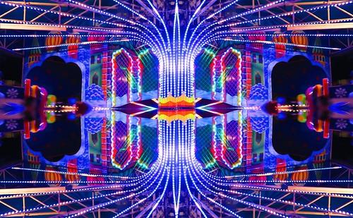 Fuente luminosa/Gleaming fountain.