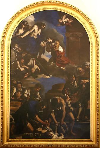 Guercino  (Giovanni Francesco Barbieri 1591-1666) - Seppellimento di Santa Petronilla (1621-1623) olio su tela cm 720 x 423 - Musei Capitolini Roma