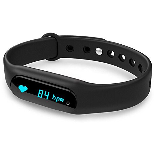 Cheap Sabuy Smart Bracelet Fitness Tracker Bluetooth Smart band Heart Rate Monitor Wrist Band Wrap with Pedometer for Android IOS, DONE6 S(Black)