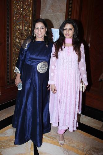 Kavita Seth and Bhagyashree at Brahmakumari Sister Shivani's spiritual talk at Hotel Sea Princess