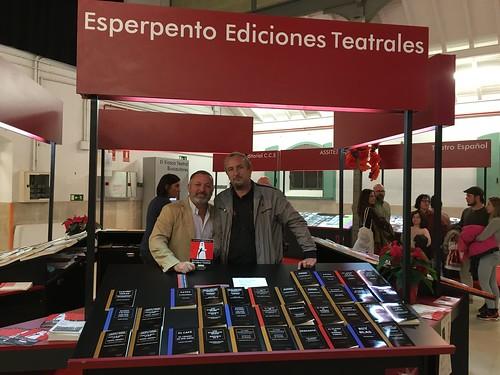 Con Fernando Olaya director de Esperpento Ediciones Teatrales